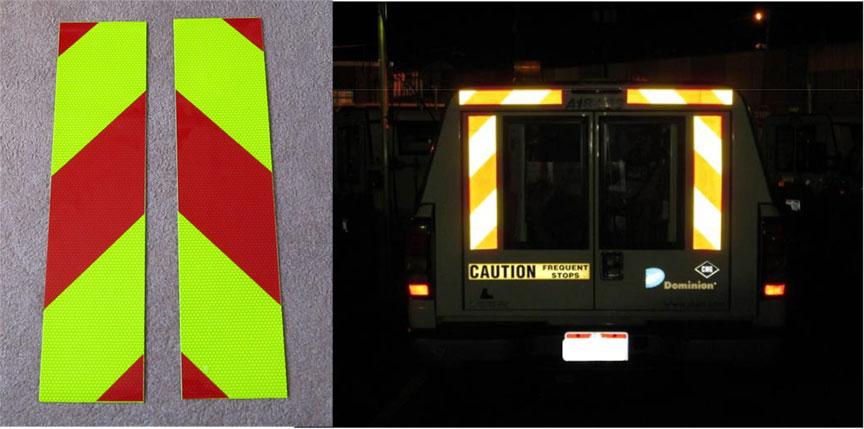 Reflective Panels Utility Trucks