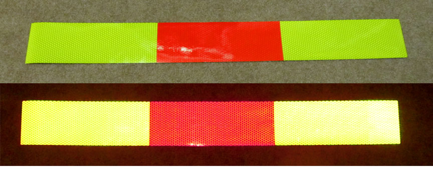 alternating color reflective panel