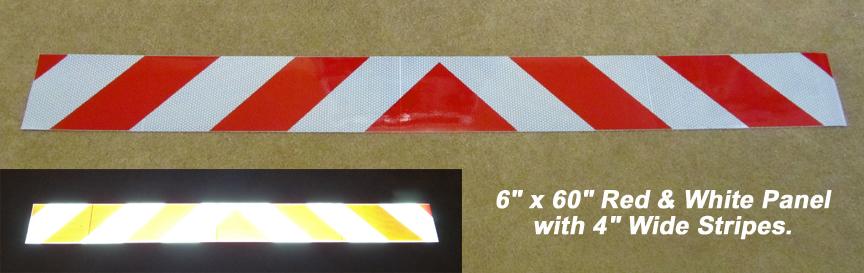 "6"" x 60"" Reflective Chevron Panel"