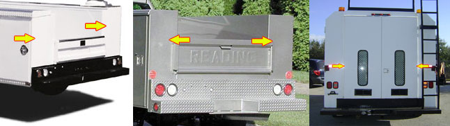 reflective tape truck body