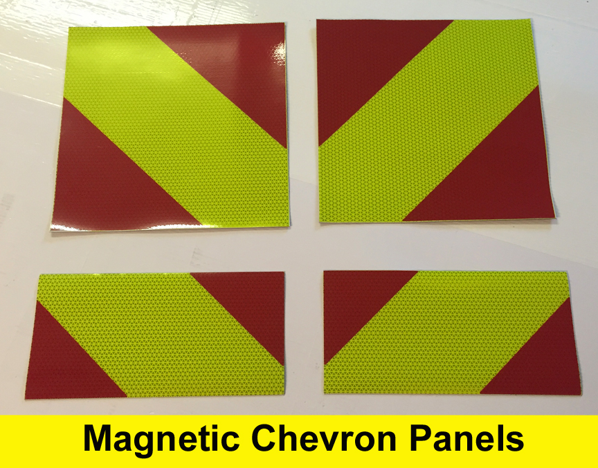 Magnetic Removable Reflective Chevron Panels