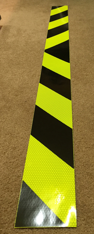lime black garbage truck reflective chevron panels