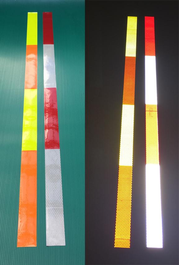 block pattern reflective panels