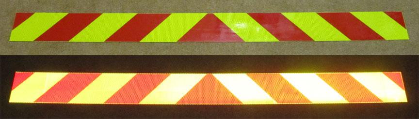 reflective chevrons tailgates