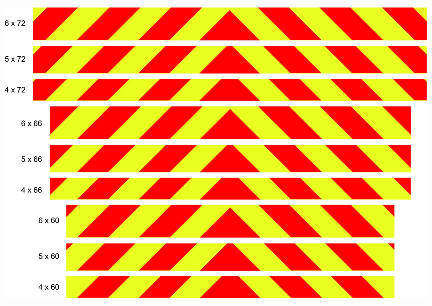 "4"" stripes chevron panel"