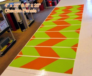 orange and lime reflective decals