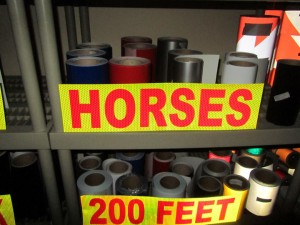 horse trailer reflective decal