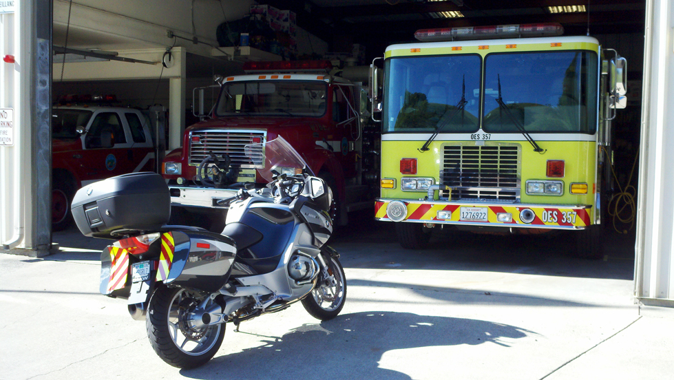 fire truck motorcycle reflective panels