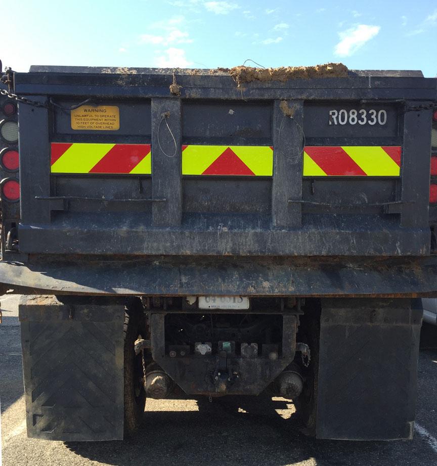 virginia dot dump truck chevron panel