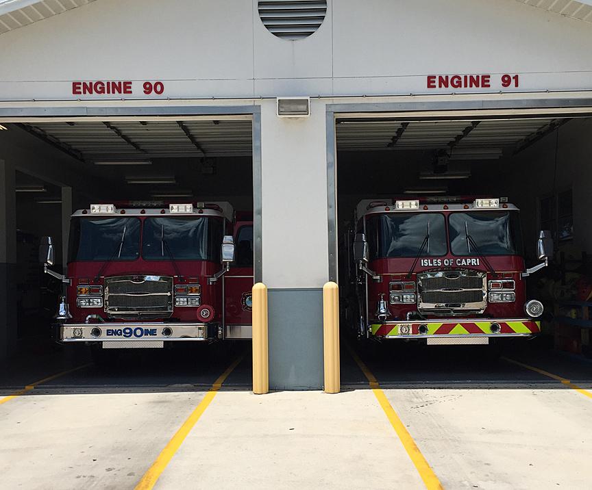 chevron reflective panel fire truck bumper