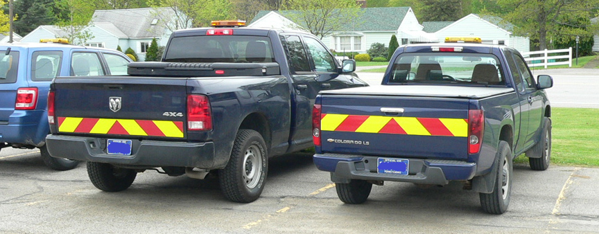 reflective chevron decals utility trucks