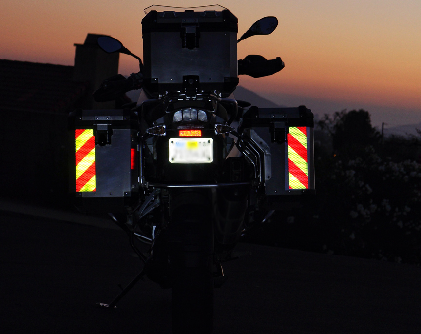 motor bike cycle chevron reflective panels