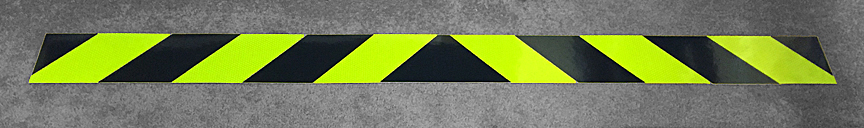 Lime Yellow and Black Reflective Chevron Panel