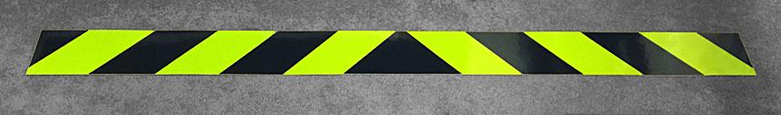 Lime Yellow and Black Reflective Chevron Panel
