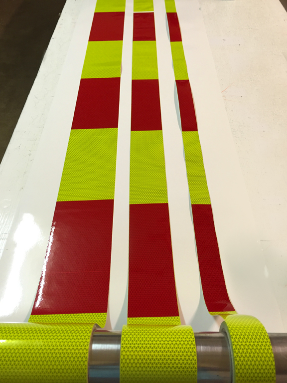 block style AT&T panels red and lime yellow